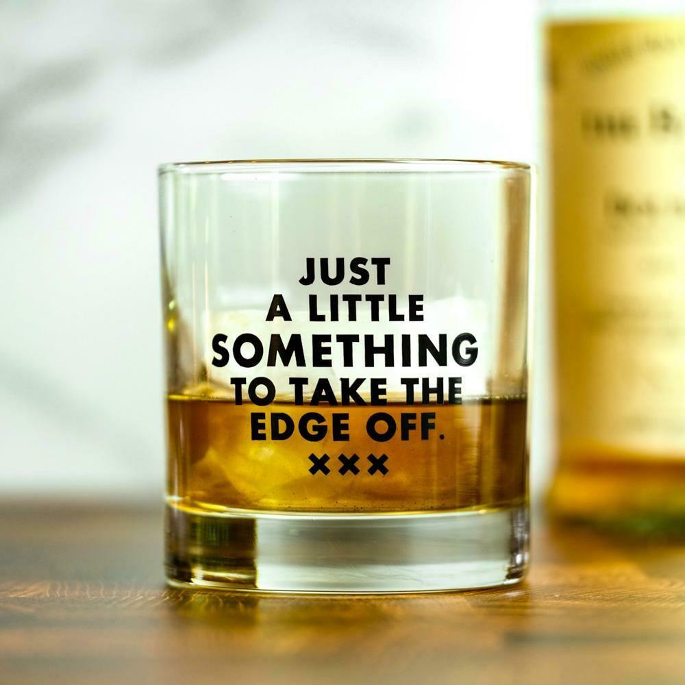 Edge Off Rocks Glass
