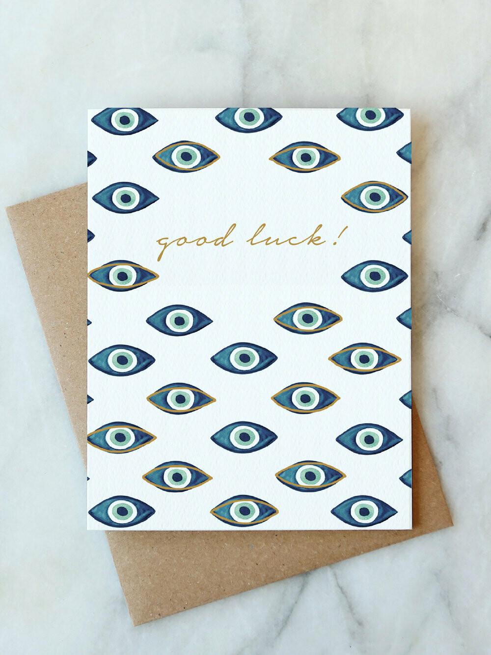 AJ Good Luck Card