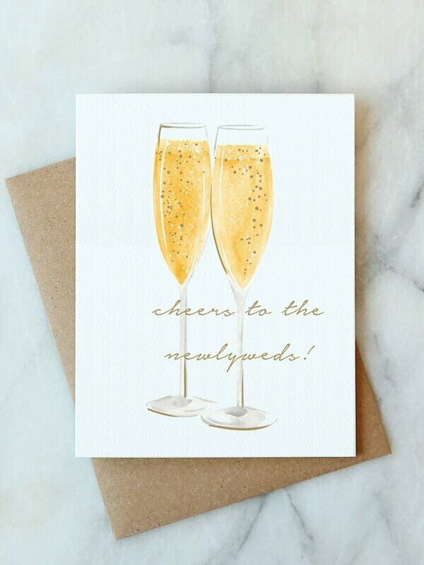 Cheers to the Newlyweds Card