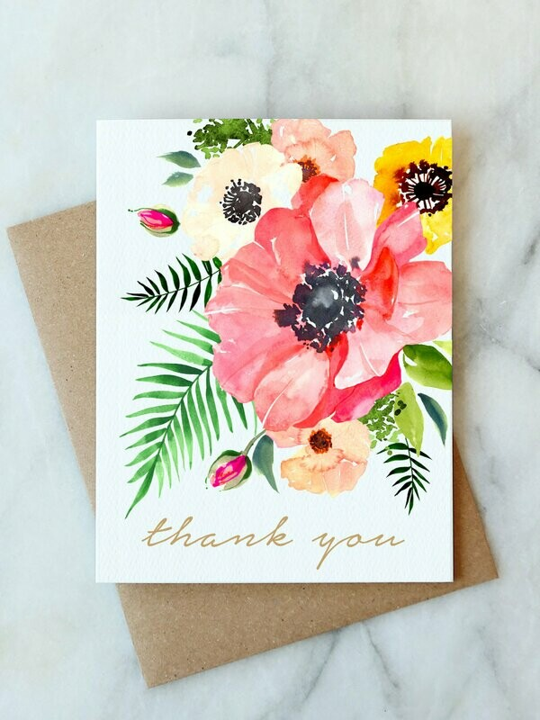 AJ thank you floral card