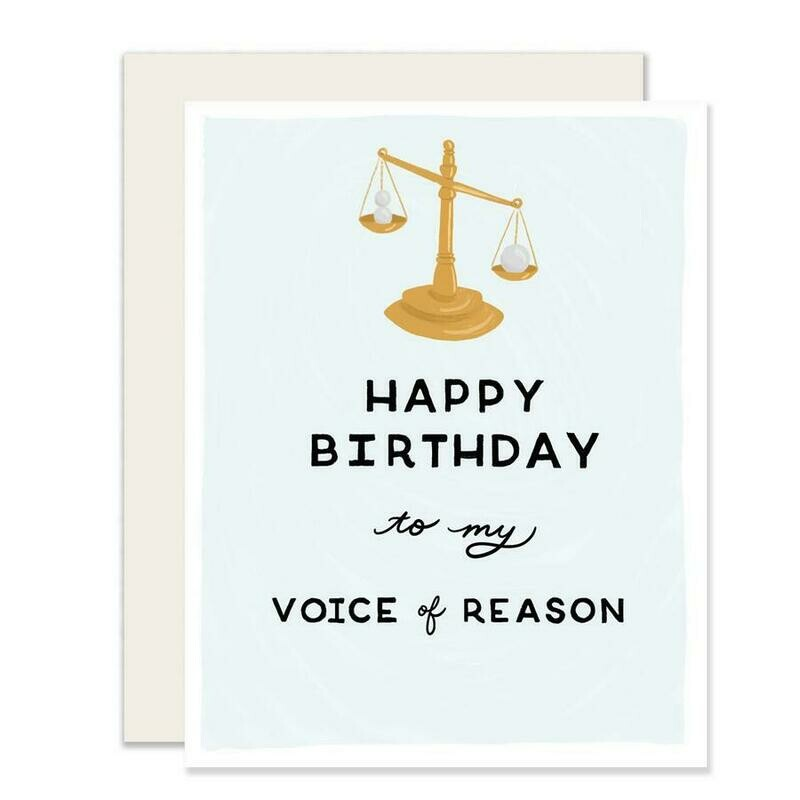 Voice of Reason Card