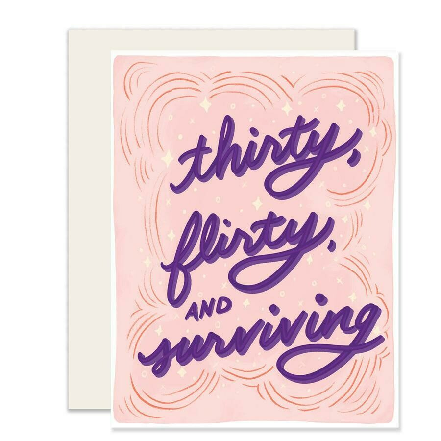 Thirty, Flirty and Surviving Card