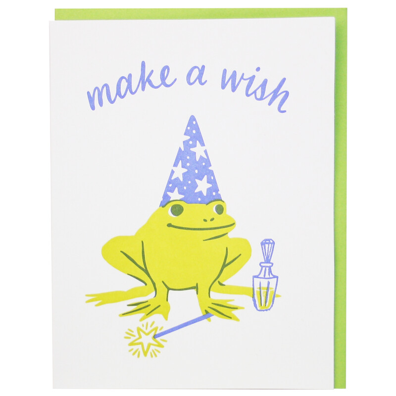 Make a Wish Frog Card