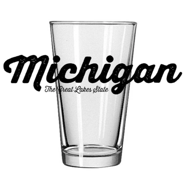 Michigan Script - Pint Glass