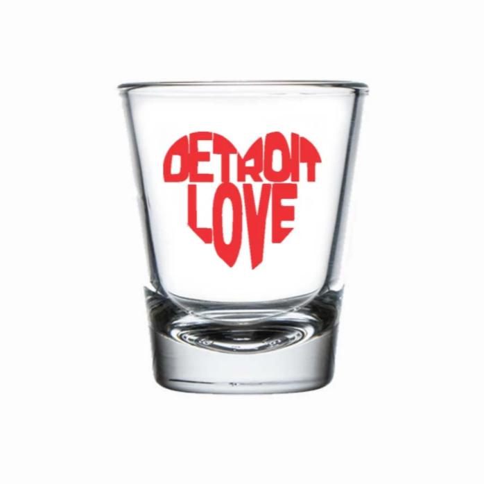 Detroit Heart - Shot Glass