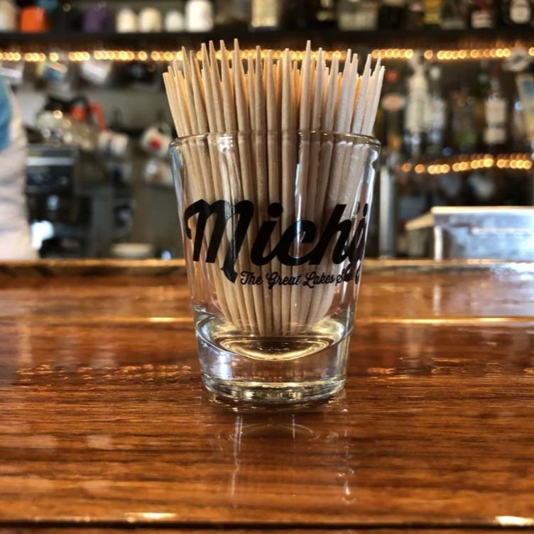 Michigan Script - Shot Glass