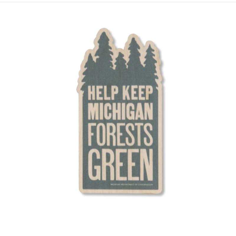 Michigan Forests Wood Sticker