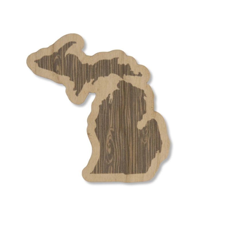 Michigan Woodgrain Wood Sticker