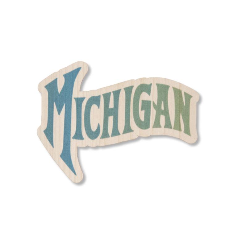 Michigan Wood Sticker