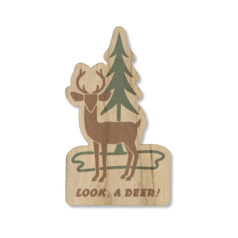 Look, a Deer! Wood Sticker