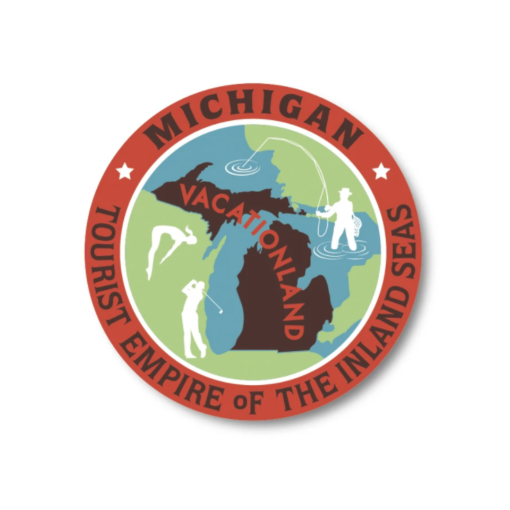 Vacationland Sticker