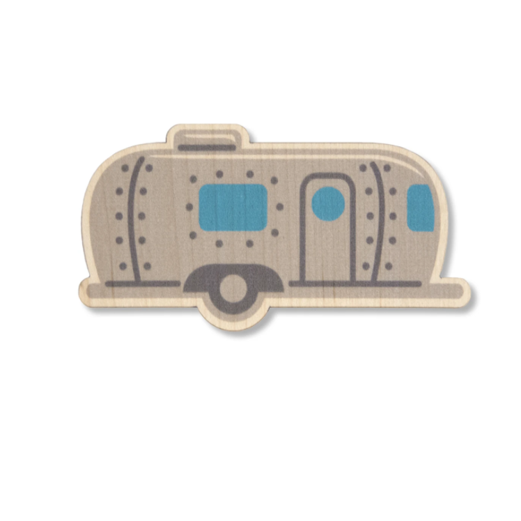 Vintage Camper Wood Sticker