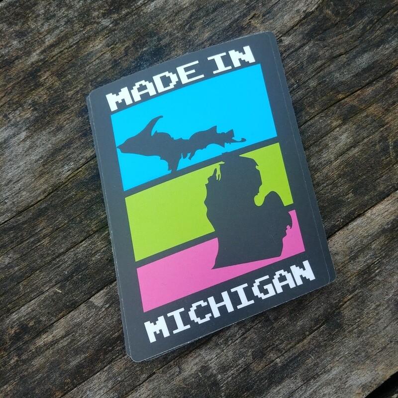 Made in MI Sticker