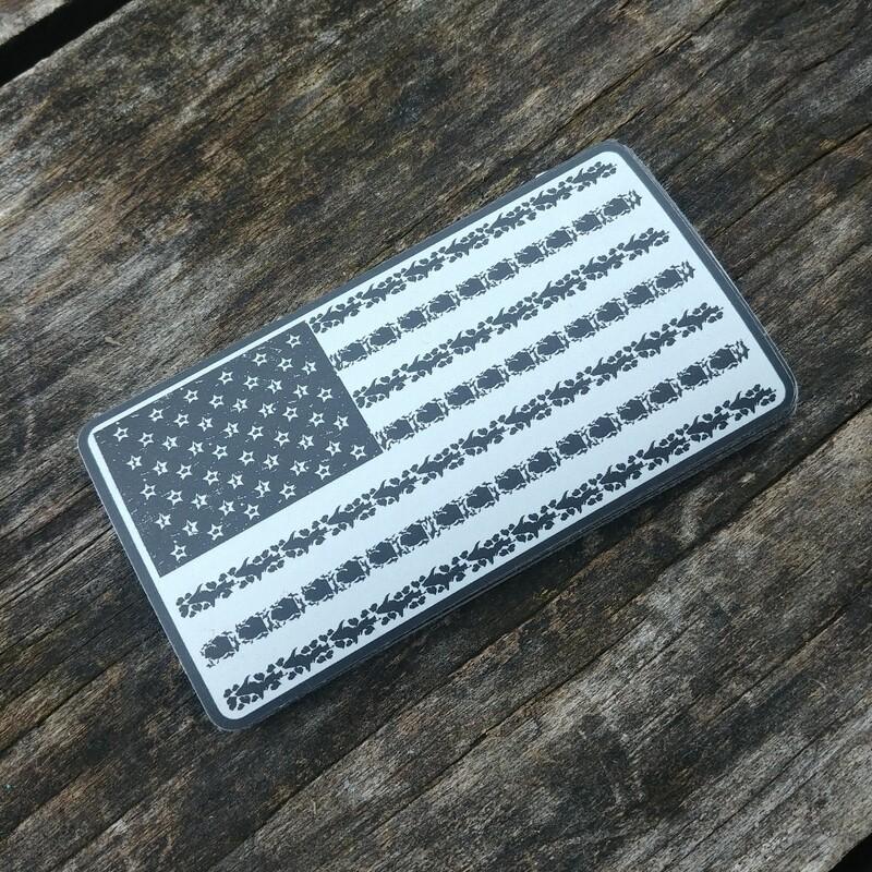 MI American Flag Sticker