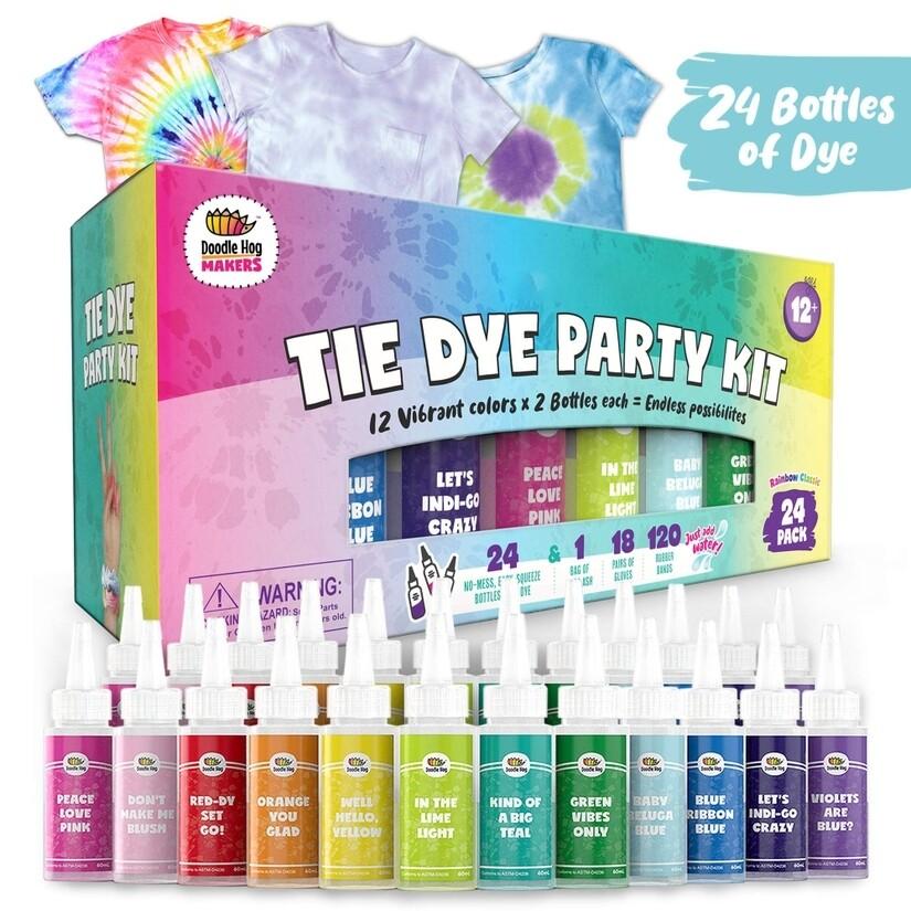 Tie Die Party Kit - 24 Pack