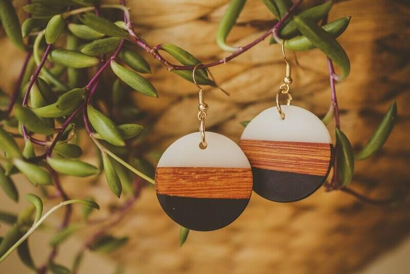 Wooden Disc Earrings