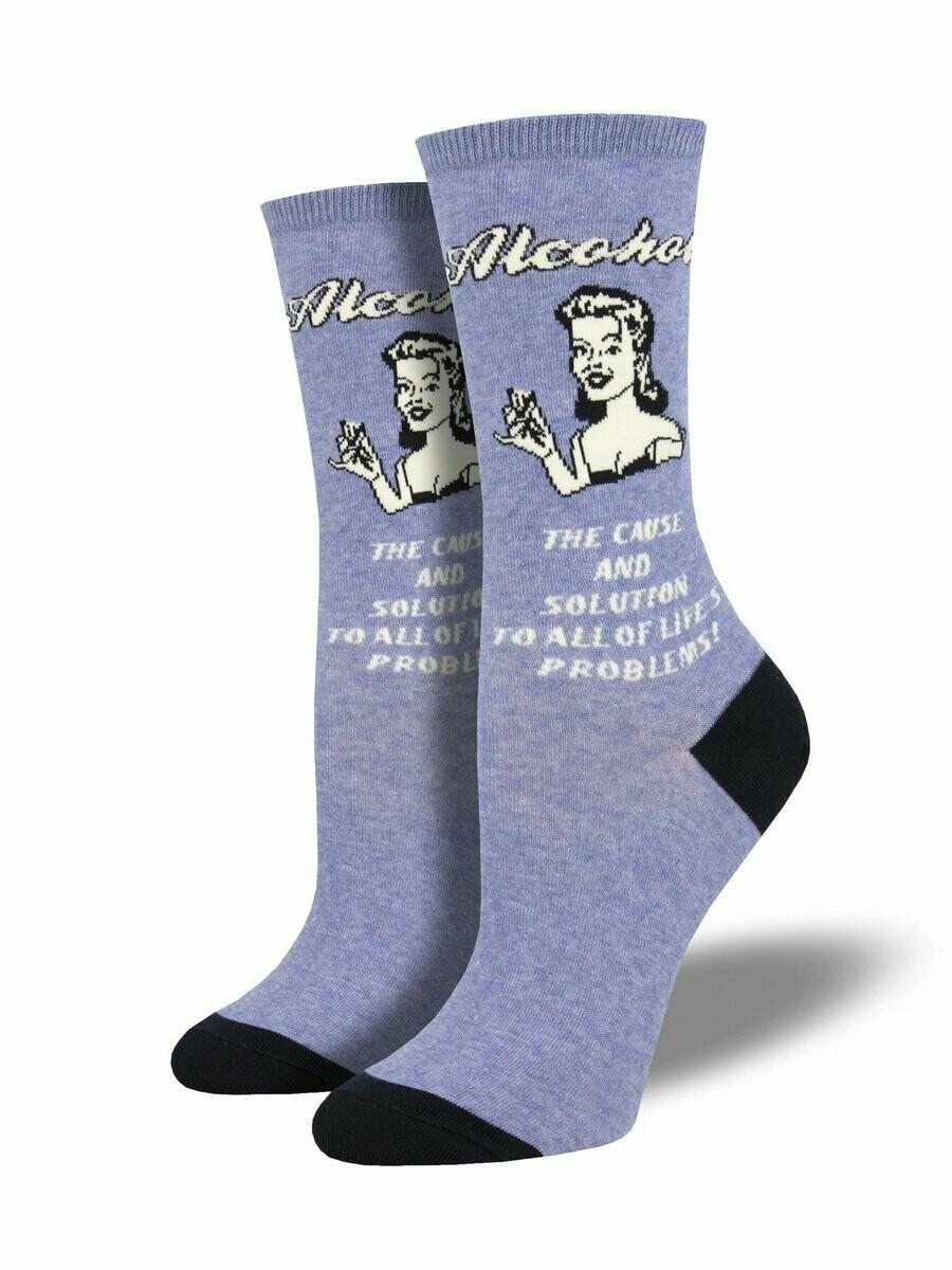 Retro Alcohol Women's Sock