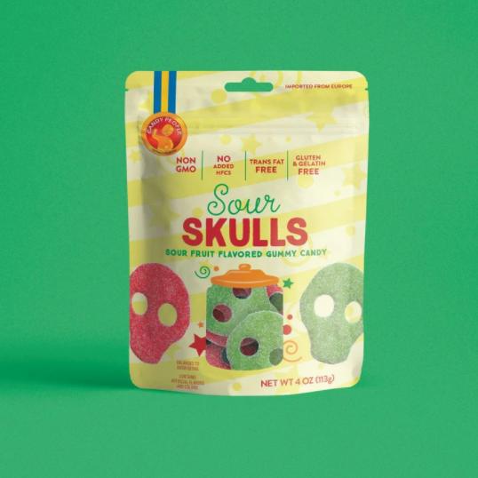 Sour Skulls Gummy Candy
