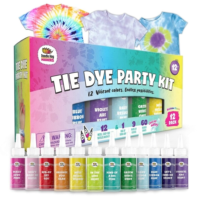 Tie Dye Party Kit -12 Pack