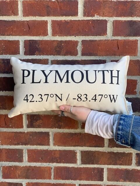 "Plymouth Pillow - 8""x15"""