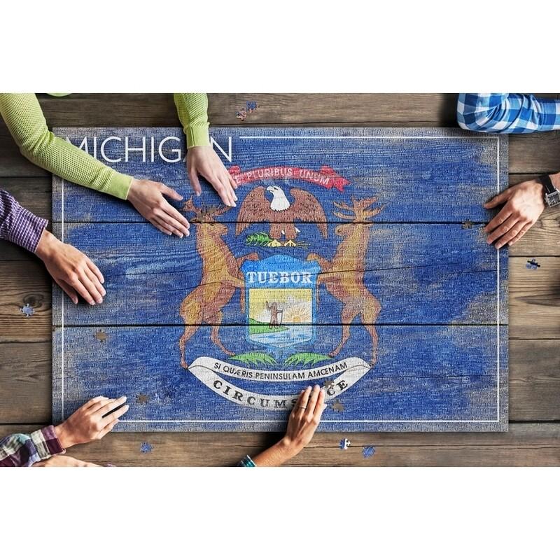 Michigan Flag Puzzle