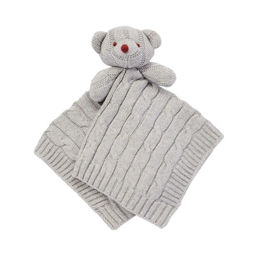 Knit Bear Security Blanket