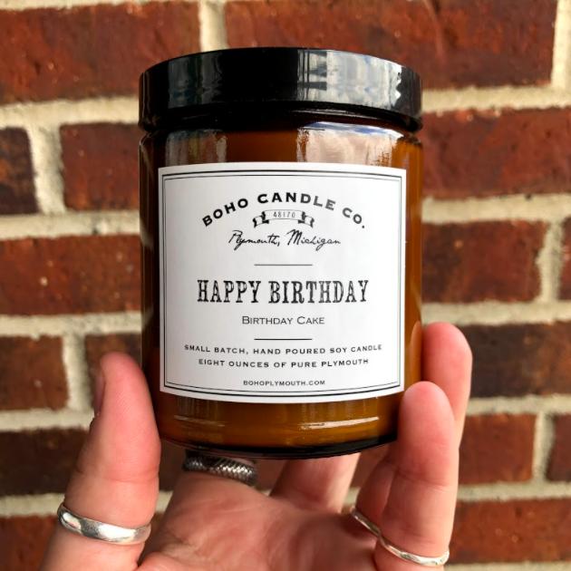 BoHo Happy Birthday Candle