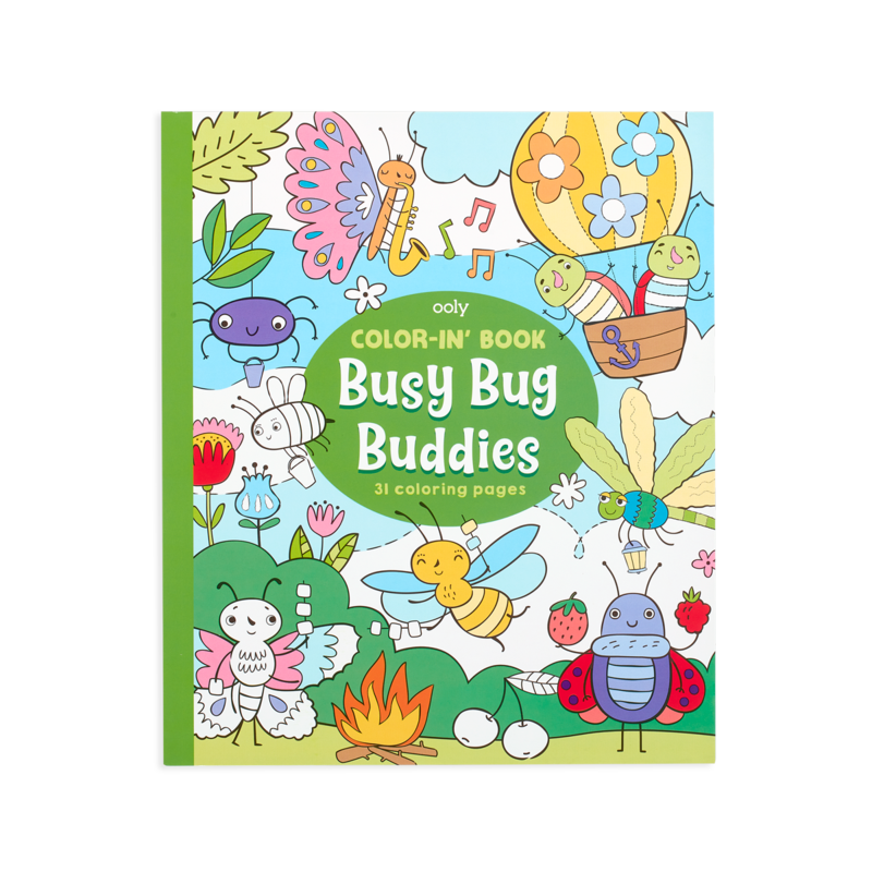 Color-in' Book: Busy Bug Buddies