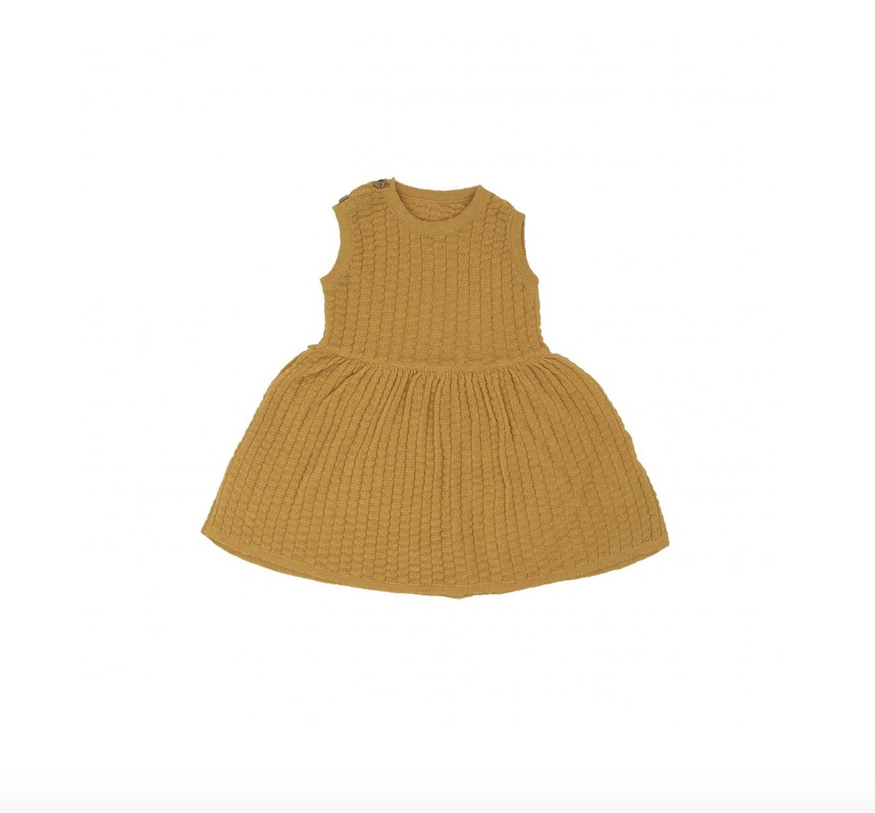 Organic Knit Dress - Ochre