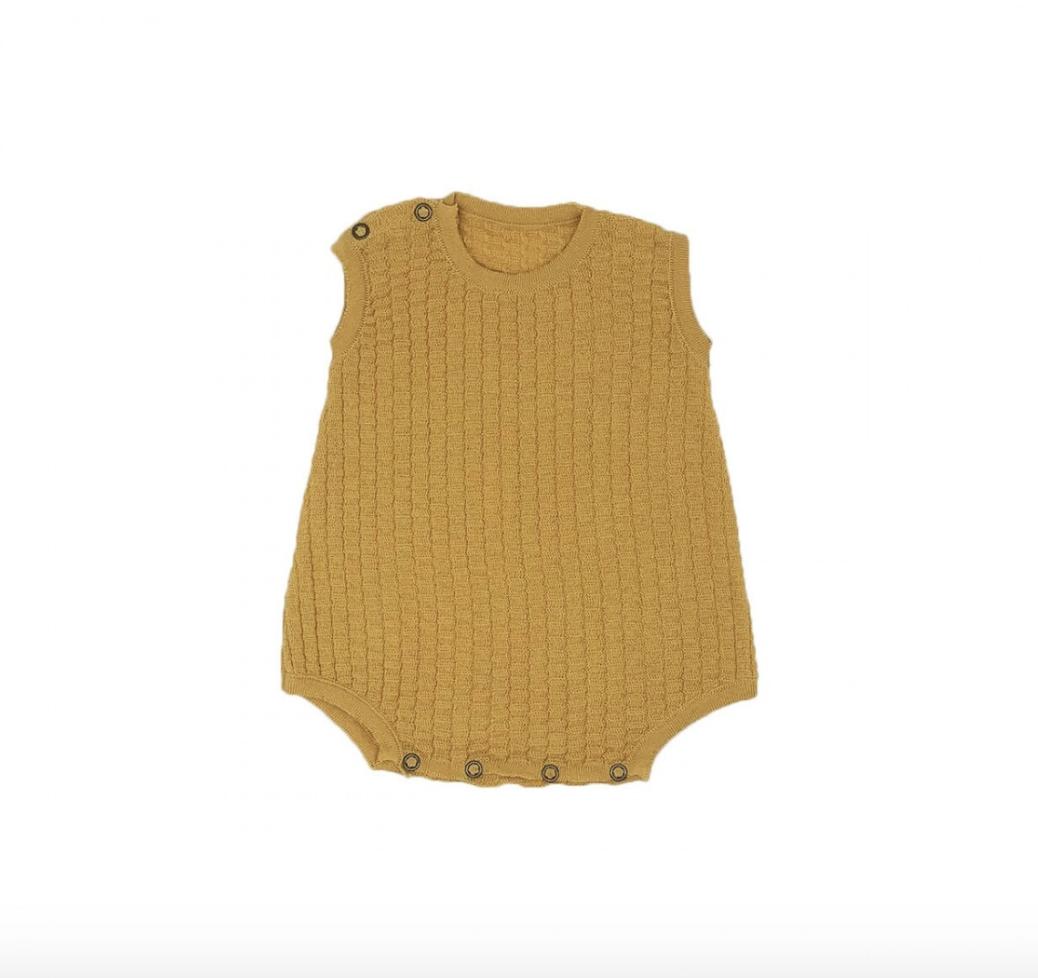 Knit Bodysuit - Ochre