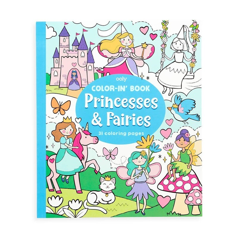 Color-in Book: Princess & Fairies