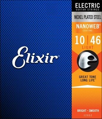 Elixir 12052 Nanoweb Electric  Light 10-46
