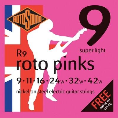 Rotosound R9 Roto Pinks  Electric Set 9 - 42