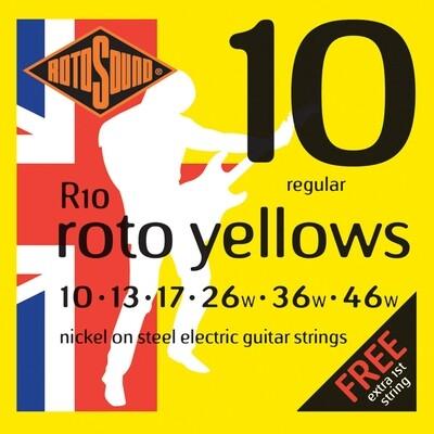 Rotosound R10 Roto Yellows Electric String Set