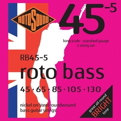 Rotosound RB455 Rotobass 5 String Standard 45 -105