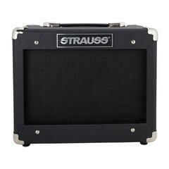 Strauss Legacy 15 Watt Solid State Bass Guitar Practice Amplifier (Black)