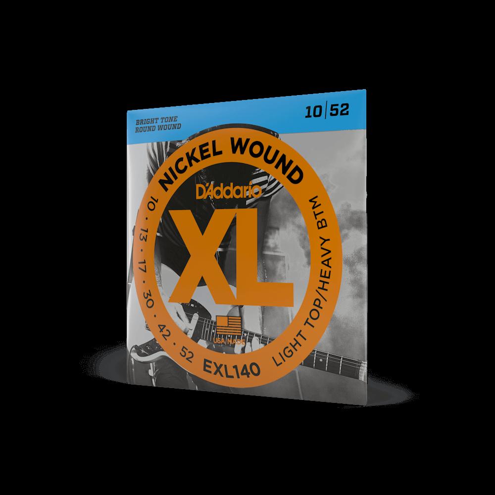 D'Addario XL Nickel Wound Electric Light Top / Heavy Bottom Set 10-52