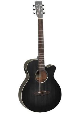 Tanglewood TWBBSFCE Blackbird Superfolk Acoustic Electric Guitar - Smokestack Satin