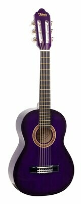 Valencia 100 Series 3/4 Size Classical Guitar Purple