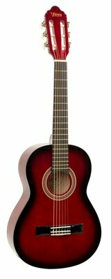Valencia Series 100 4/4 Size Classical Guitar Red