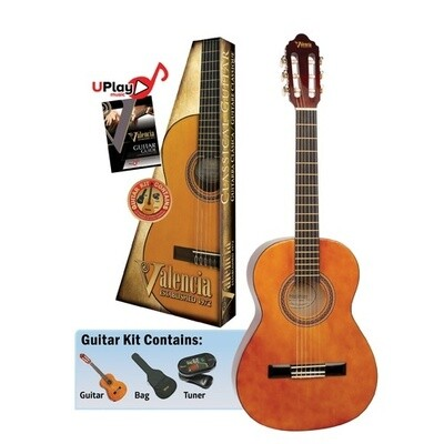 Valencia Series 100 3/4 Size Classical Guitar Kit Natural