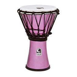 "Toca Freestyle Colorsound Series Djembe 7"" in Metallic Violet"