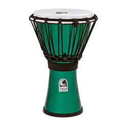 "Toca Freestyle Colorsound Series Djembe 7"" in Metallic Green"