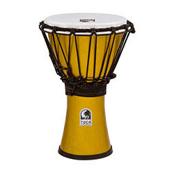 "Toca Freestyle Colorsound Series Djembe 7"" in Metallic Yellow"
