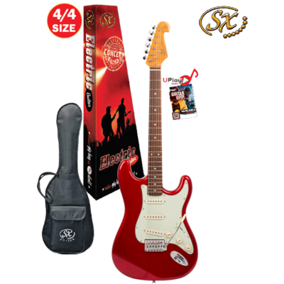 SX 4/4 VES62CAR Electric Guitar With Gig Bag – Candy Apple Red