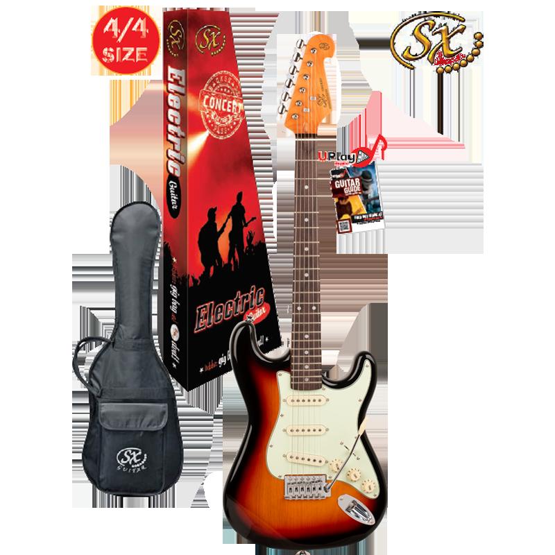 SX 4/4 VES62TS Electric Guitar With Gig Bag – 3 Tone Sunburst