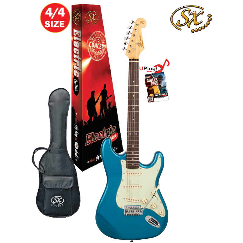 SX 4/4 VES62LPB Electric Guitar With Gig Bag – Lake Placid Blue