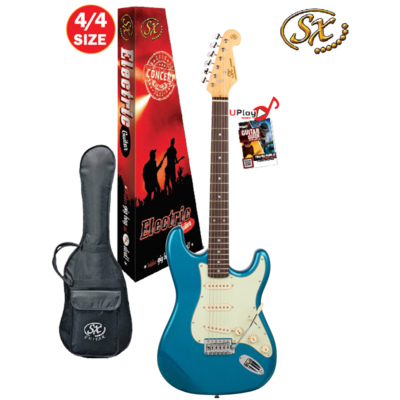 SX 4/4 VES62LPB Electric Guitar With Gig Bag – Lake Placid Blue