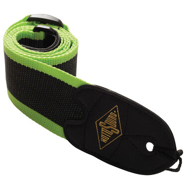 Rotosound Green Stripe Webbing Strap