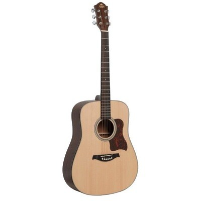 Gilman GD10 Dreadnought Acoustic Guitar Spruce Top in Natural Satin